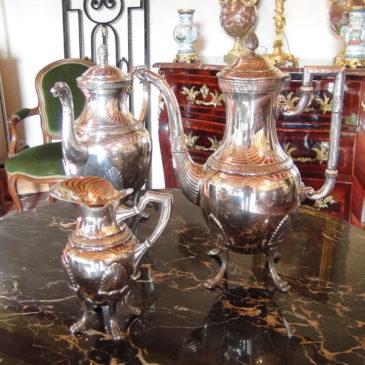 Service à Café / Thé en métal argenté
