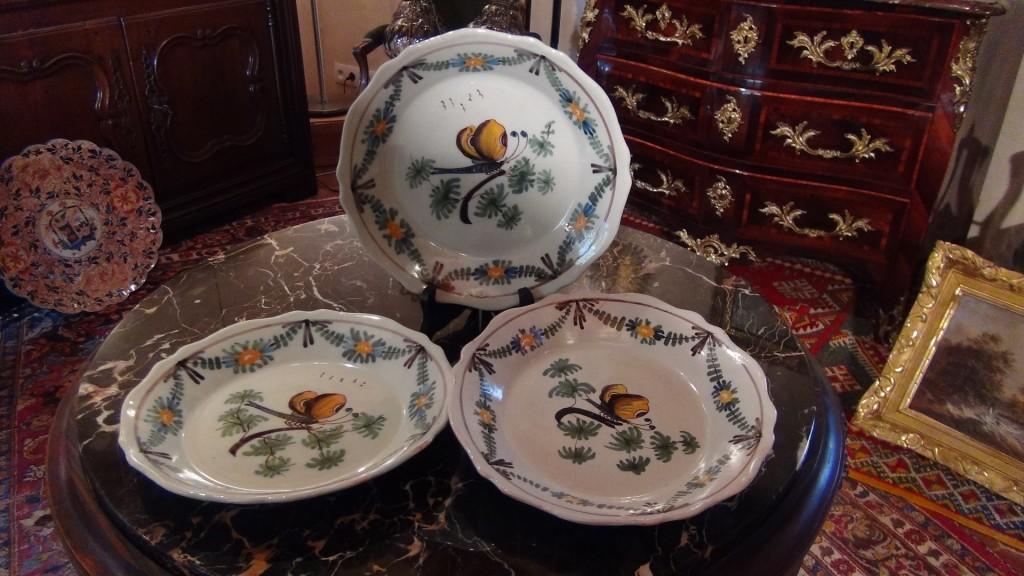 Assiettes en faïence vers 1800 - Broc-Chic ®