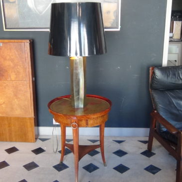 Lampe laiton vers 1960