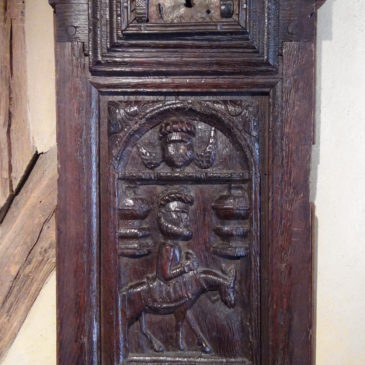 Panneau de chêne sculpté XVI/ XVII ème