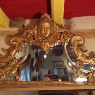 Dessus de miroir XIX ème