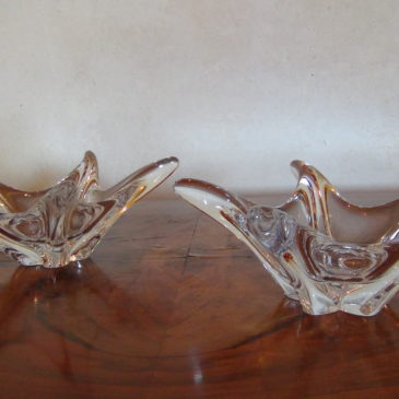 Paire de coupes en cristal Daum