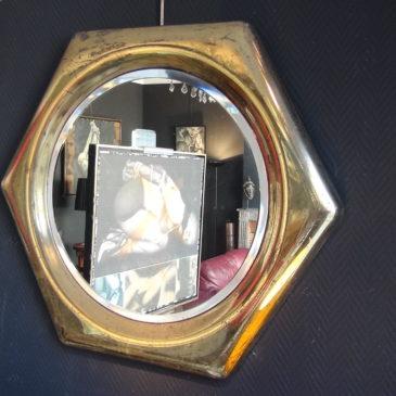 Miroirs laiton doré, Edition Reggiani