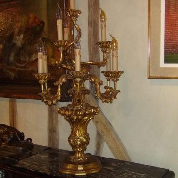 Flambeaux (paire) style Italien XVIII ème