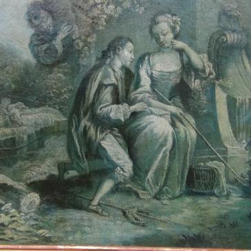 Huile sur toile fin, grisaille  XVIII ème